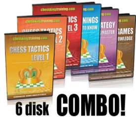 ALL 6 CHESS KING TRAINING COMBO DVD
