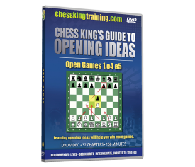 Chess King's Guide to Opening Ideas Disk 1 Open Games 1.e4 e5 DVD