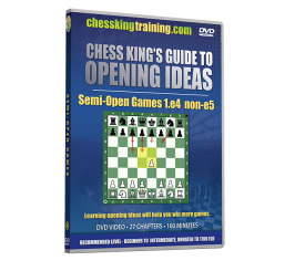 Chess King's Guide to Opening Ideas Disk 2 Semi-Open Games 1.e4 non-e5 DVD