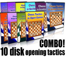 ALL 10 CHESS TACTICS IN THE OPENING COMBO (DVD's)