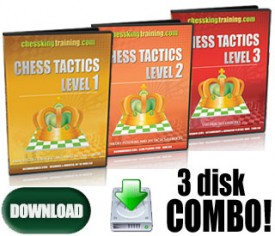 ALL 3 CHESS KING TRAINING TACTICS COMBO (Download)