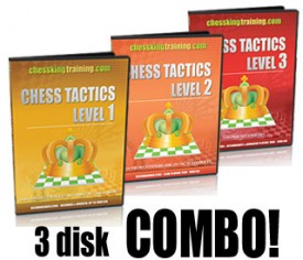 ALL 3 CHESS KING TRAINING TACTICS COMBO DVD