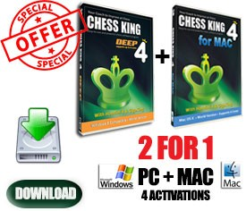 2-for-1 Chess King 4 SPECIAL OFFER for Mac & PC (download)