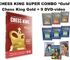 Chess King Super Combo Gold (Chess King Gold + 9 DVD-video)