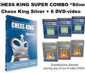 Chess King Super Combo Silver (Chess King Silver + 6 DVD-video)