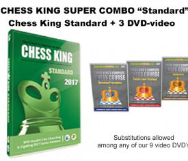 Chess King Super Combo Standard (Chess King Standard 2017 + 3 DVD-video)