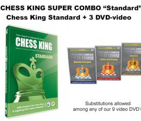 Chess King Super Combo Standard (Chess King Standard + 3 DVD-video)