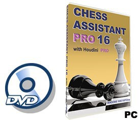 Chess Assistant 16 PRO with Houdini 4 PRO (for PC, DVD)
