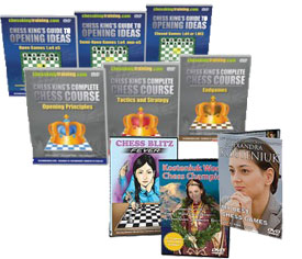 Complete Chess Course + Chess King Guide to Opening Ideas + Kosteniuk Combo (9 DVD)