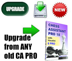 Upgrade to Chess Assistant 18 PRO with Houdini 6 PRO (download)