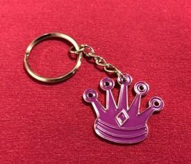 Chess Queen Purple Keychain