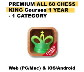 Premium All 60 Chess King Courses 1 Category – 1 YEAR