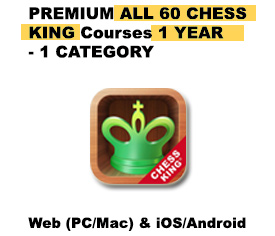 Premium All 74 Chess King Courses 1 Category – 1 YEAR