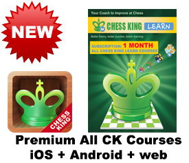 Chess King Learn web + iOS + Android All CK courses subscription – 1 MONTH