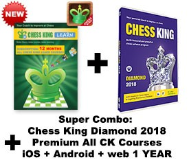 Chess King Diamond (2018) + Chess King Learn web + iOS + Android All CK courses subscription – 12 MONTHS