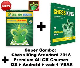Chess King Standard (2018) + Chess King Learn web + iOS + Android All CK courses subscription – 12 MONTHS