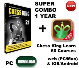 Chess King 21 + Chess King Learn 74 courses 1 year