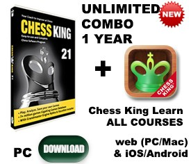 Chess King 21 + Chess King Learn UNLIMITED all courses 1 year in all 3 categories