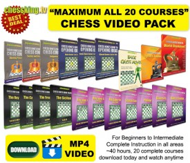 Chess King TV – ALL 20 Courses Maximum Video Download Pack